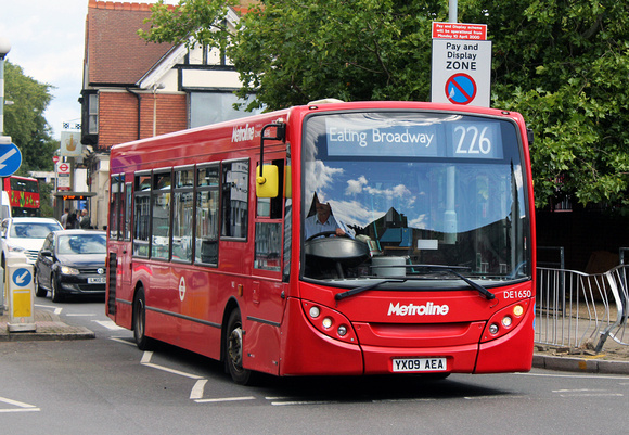 Route 226, Metroline, DE1650, YX09AEA, Willesden
