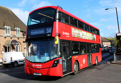 Route 340, Arriva London, SW7, LK16BXJ, Stanmore Broadway