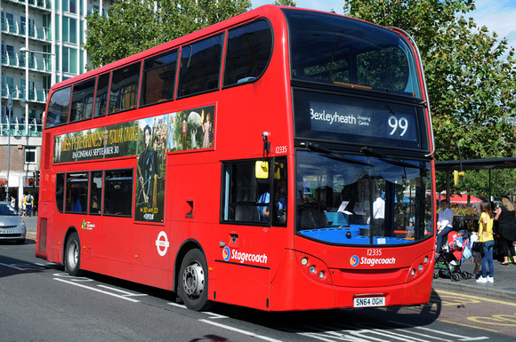 Route 99, Stagecoach London 12335, SN64OGH, Woolwich