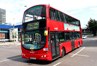 Route 343, Abellio London 9018, BX54DJV, Elephant & Castle