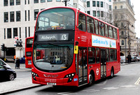Route 13, London Sovereign RATP, VH7, BD13OJA, Charing Cross