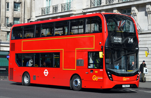Route 74, Go Ahead London, EH94, YY66OYZ, Marble Arch